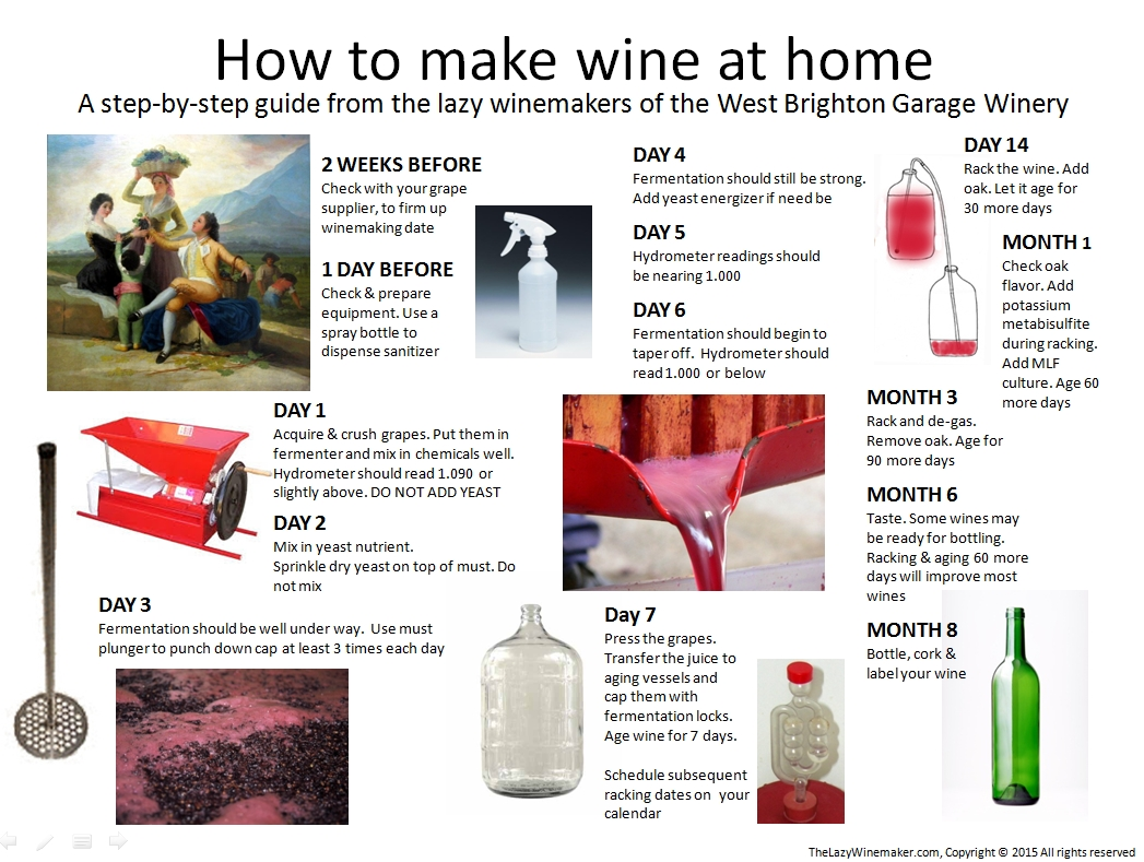 How to make wine at home a step by step guide the lazy for How to build a house step by step instructions